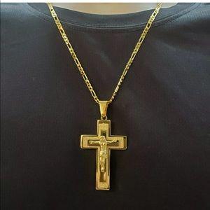 Men crucifix cross necklace